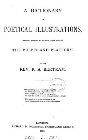 A dictionary of poetical illustrations PDF
