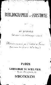 Bibliographie d'Aristote