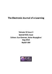 Electronic Journal of E Learning PDF
