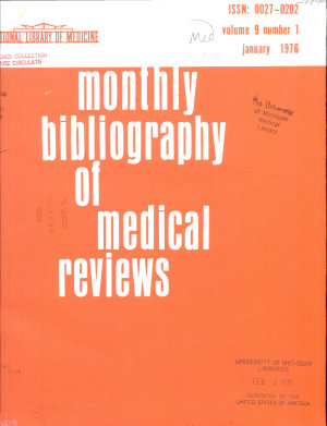 Monthly Bibliography of Medical Reviews PDF