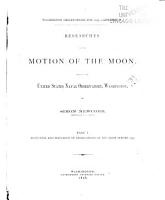Researches on the Motion of the Moon PDF