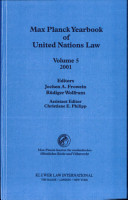 Max Planck Yearbook of United Nations Law  2001 PDF