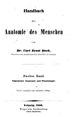 Handbuch der anatomie des menschen  bd  Allgemeine anatomie und physiologie  1850 PDF
