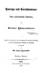 Parerga und Paralipomena: kleine philosophische Schriften, Band 1