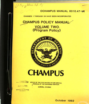 CHAMPUS Policy Manual  Program policy PDF