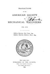Transactions of the American Society of Mechanical Engineers: Volume 16