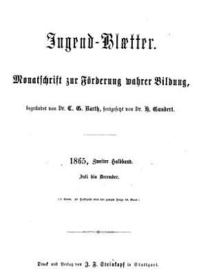 Jugendbl  tter PDF