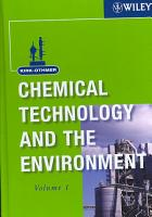 Kirk Othmer Chemical Technology and the Environment  2 Volume Set PDF