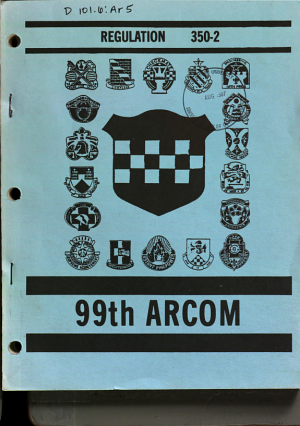 99th United States Army Reserve Command Regulation 350 2
