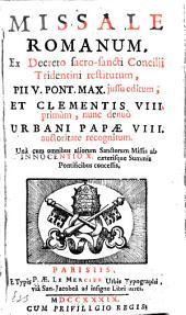 Missale Romanum ex decreto... Concilii Tridentini restitutum,