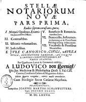 Stella Notariorum nova: Band 1