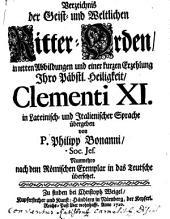 Verzeichnis der Geist- und Weltlichen Ritter-Orden: in netten Abbildungen und einer kurzen Erzehlung