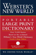 Webster s New World Portable Large Print Dictionary