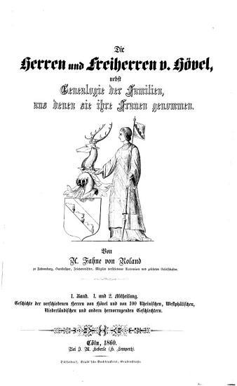 Die Herren und Freiherren v  H  vel  nebst Genealogie der Familien  aus denen sie ihre Frauen genommen PDF