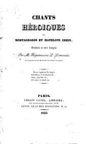Chants héroïques des montagnards et matelots grecs, traduits en vers français