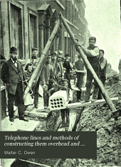 Telephone lines and methods of constructing them overhead and underground