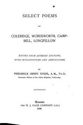 Select Poems of Coleridge, Wordsworth, Campbell, Longfellow
