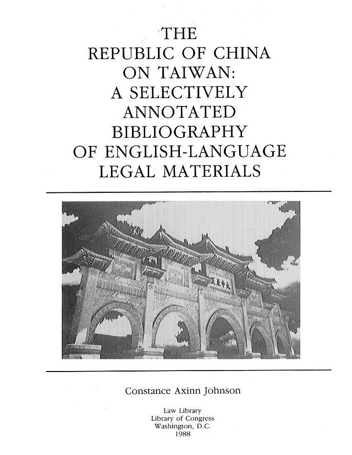 The Republic of China on Taiwan