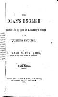 The Dean s English PDF