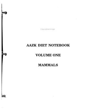 American Association of Zoo Keepers  Inc  Diet Notebook  Mammals