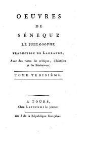 Oeuvres de Séneque le philosophe: Volume3