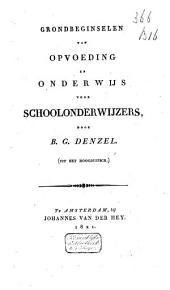 Grondbeginselen van opvoeding en onderwijs voor schoolonderwijzers