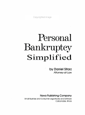 Personal Bankruptcy Simplified PDF