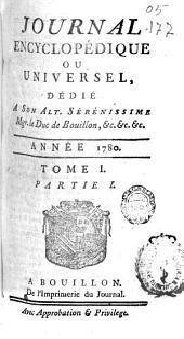 Journal encyclopédique: Volume1,Partie1