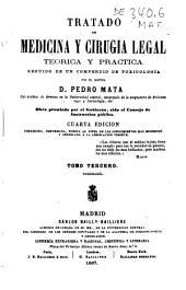 Tratado de medicina y cirugia legal teórica y práctica, seguido de un compendio de toxicología: Toxicología