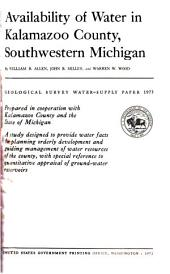Geological Survey Water-supply Paper: Issues 1973-1974