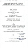 Comprehensive Occupational Safety and Health Reform Act PDF