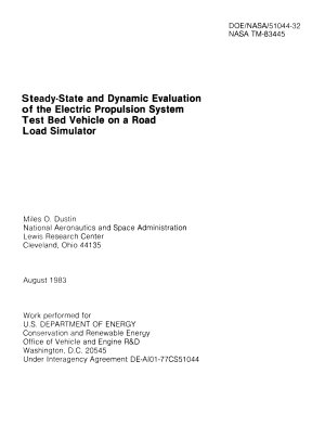 Steady-state and Dynamic Evaluation of the Electric Propulsion System Test Bed Vehicle on a Road Load Simulator