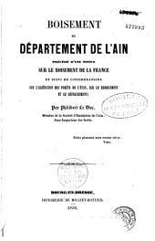 Boisement du département de l'Ain: précédé d'une notice sur le boisement de la France