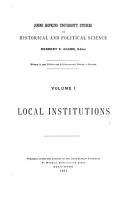 An Introduction to American Institutional History Written for this Series PDF