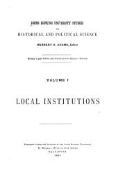 An Introduction to American Institutional History Written for this Series: Issues 1-12