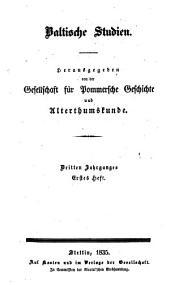 Baltische Studien: Band 3