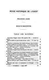 Revue historique de l'Ouest ...: Volume2