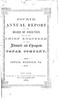 Annual Report of the President and Directors of the Albemarle   Chesapeake Canal Company     PDF