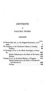 The Works of John Dryden: Now First Collected in Eighteen Volumes, Volume 3