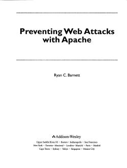 Preventing Web Attacks with Apache PDF