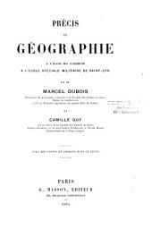 Précis de géographie à l'usage des candidats à l'École spéciale militaire de Saint-Cyr