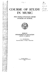 Course of Study in Music for Pupils Studying Music Outside of School