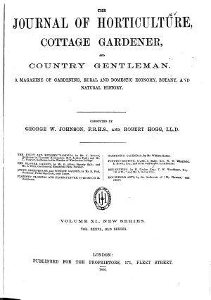 The Journal of Horticulture Cottage Gardener and Country Gentleman