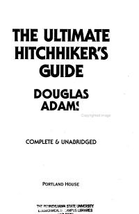 The Ultimate Hitchhiker s Guide