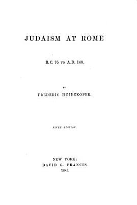 Judaism at Rome PDF