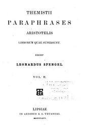 Paraphrase Aristotelis librorum quae supersunt: Volume 2