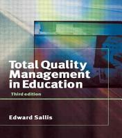 Total Quality Management in Education PDF
