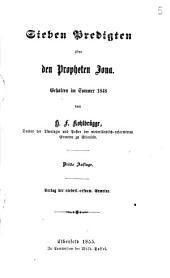Sieben Predigten über den Propheten Jona, gehalten im Sommer 1848