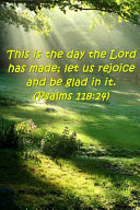 2019 Weekly Planner Bible Verse Day Lord Made Rejoice Psalms 118 24 134 Pages