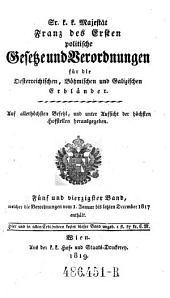 Welcher die Verordnungen vom 1. Januar bis letzten December 1817 enthält: Volume 45
